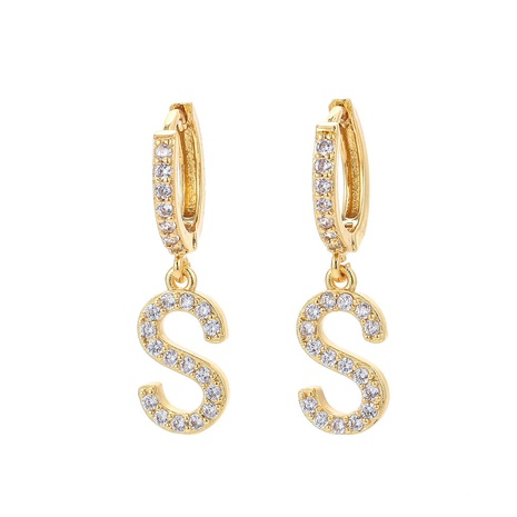 fashion letter single large size earrings  NHWG330631's discount tags