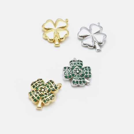 Fashion zircon four-leaf clover necklace accessories NHWV330710's discount tags