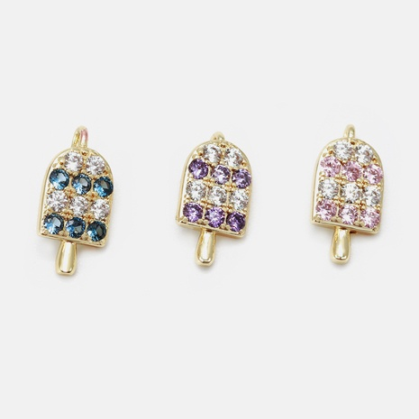 fashion gold-plated zircon popsicle copper accessories NHWV330723's discount tags