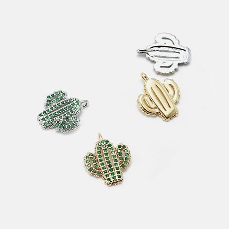 Fashion zircon cactus accessories necklace wholesale NHWV330726's discount tags