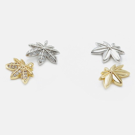 Simple zircon maple leaf necklace accessories NHWV330731's discount tags