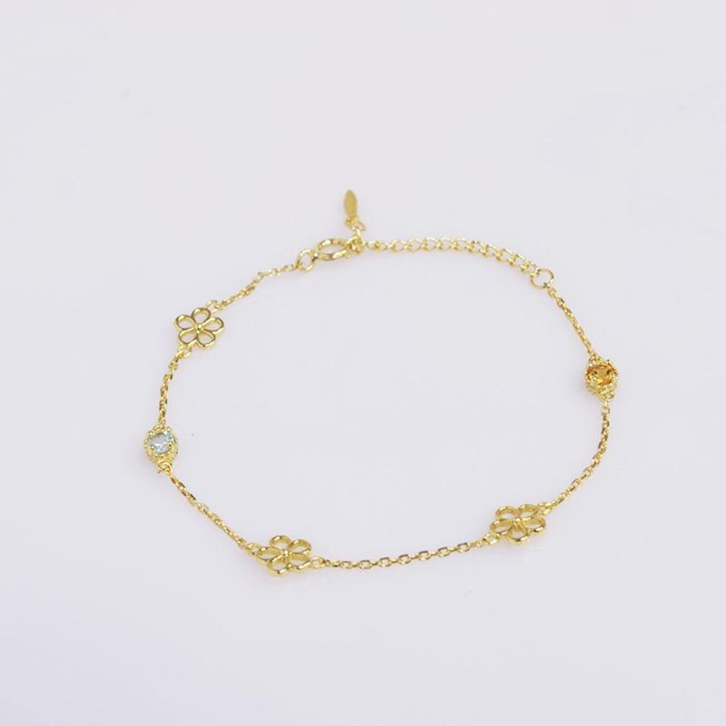 S925 silver Topaz fashion Bracelet NHKL331009