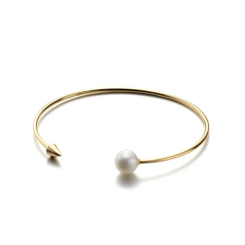 S925 Sterling Silver Fashion open Pearl Bracelet NHKL331012