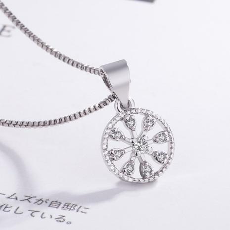 Christmas snowflake zircon hollow pendant NHKL331024's discount tags