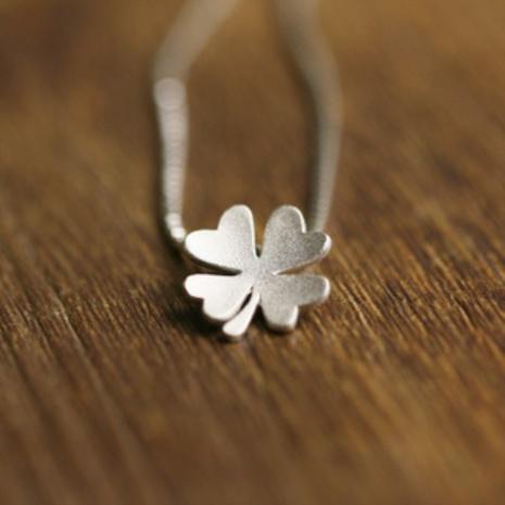 Korean silver clover pendant NHKL331027's discount tags
