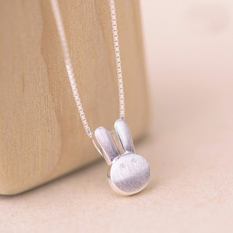 Korean silver drawing frosted rabbit pendant NHKL331028's discount tags