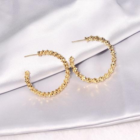 Retro metal round hoop big hoop earrings NHQC331049's discount tags