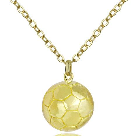 Mode Fußball Anhänger Halskette NHACH329448's discount tags