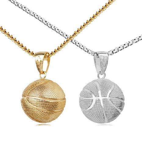 Basketball Anhänger Halskette aus Edelstahl NHACH329459's discount tags