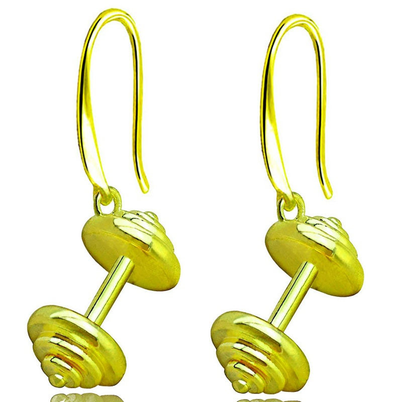 fashion gold barbell earrings  NHACH329460