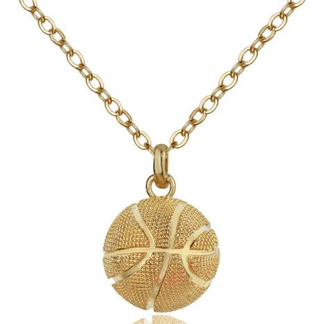 Mode dreidimensionale Basketball-Legierung Halskette NHACH329461's discount tags