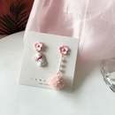 Cute Bunny Asymmetrical Earrings NHBY331067