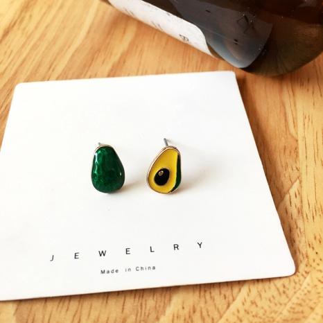 Boucles d'oreilles créatives d'avocat coréennes NHBY331096's discount tags