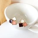 Korea cute simple square stitching earrings  NHBY331100