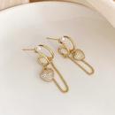 fashion Love Chain Pearl Earrings NHOT334503