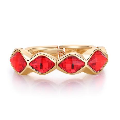 Retro diamond-shaped colored diamond open bracelet NHBD334049's discount tags