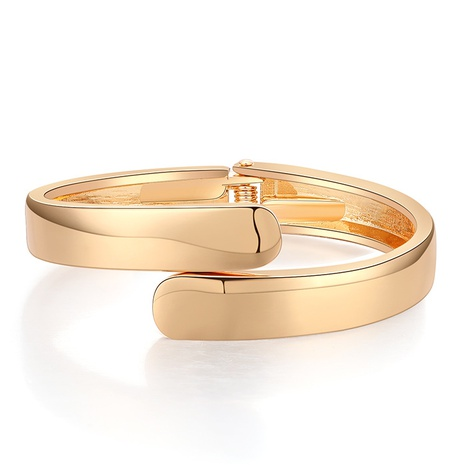 Simple Glossy Spring Opening Alloy Bracelet NHBD334052's discount tags
