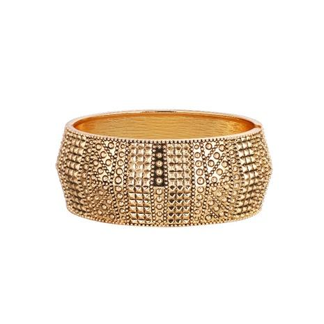 Bracelet ouvert rétro géométrique à large bord NHBD334056's discount tags