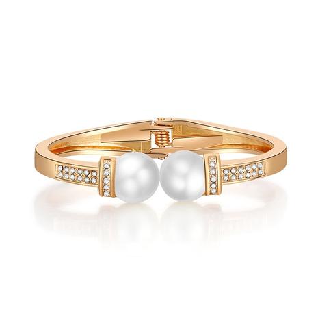 Fashion double-headed pearl diamond glossy bracelet NHBD334058's discount tags
