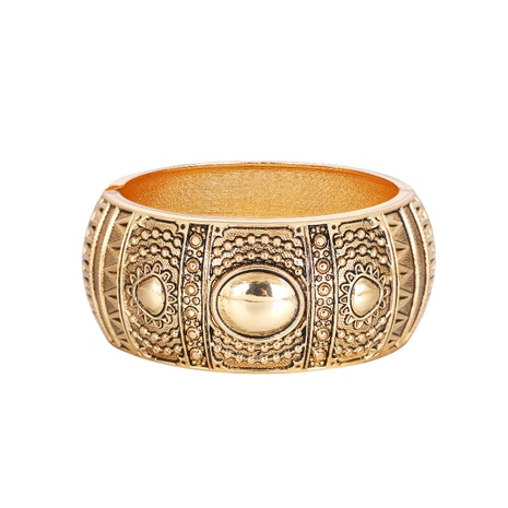 Retro wide-sided drum-shaped totem bracelet NHBD334061's discount tags