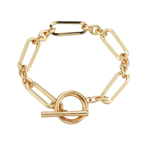 Fashion geometric chain alloy bracelet wholesale NHBD334063's discount tags