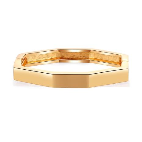 Simple glossy octagonal prismatic alloy bracelet NHBD334065's discount tags