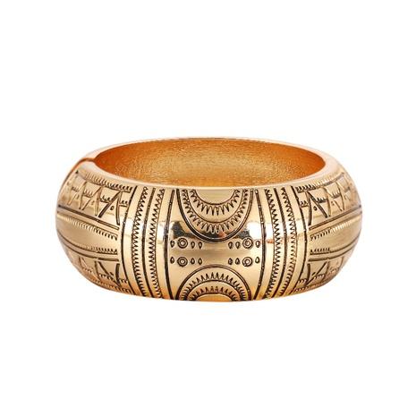 Retro totem pattern wide-brimmed bracelets NHBD334067's discount tags