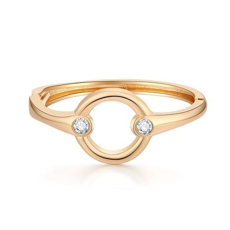 Bracelet en métal lisse à ouverture fine et simple en diamant NHBD334066's discount tags