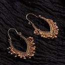 Bohemia hollow oval tassel alloy earrings NHAKJ334079