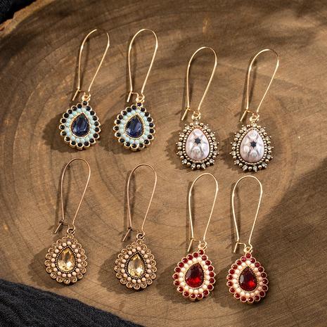 Retro drop-shaped alloy earrings NHAKJ334081's discount tags