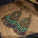Fashion miyuki beads hollow carved tassel earrings NHAKJ334084