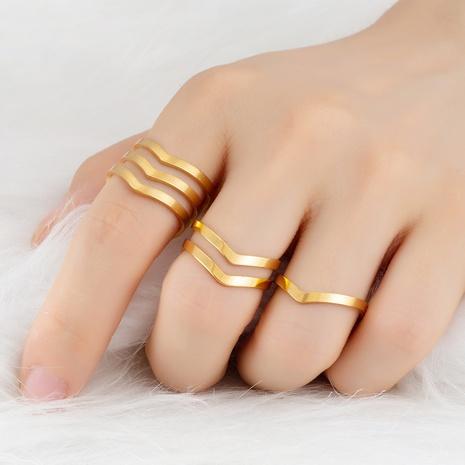 Einfacher herzförmiger offener Ring aus rostfreiem Stahl im Großhandel NHAKJ334087's discount tags