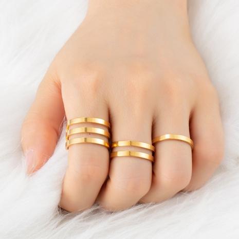 Großer Ring aus offenem Ring aus koreanischem Edelstahl NHAKJ334088's discount tags