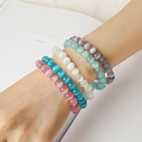 Simple Frosted Opal Bracelet Wholesale NHAKJ334090's discount tags
