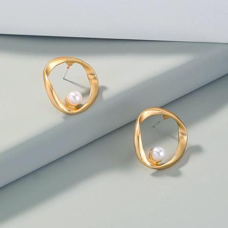 boucles d'oreilles rétro en or mat or sauvage NHAN334093's discount tags