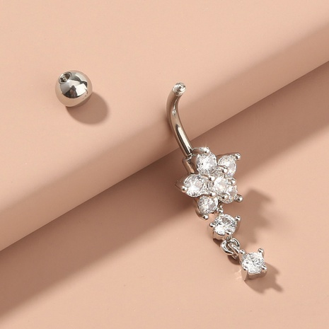 new sexy tassel flower zircon belly button ring NHAN334095's discount tags