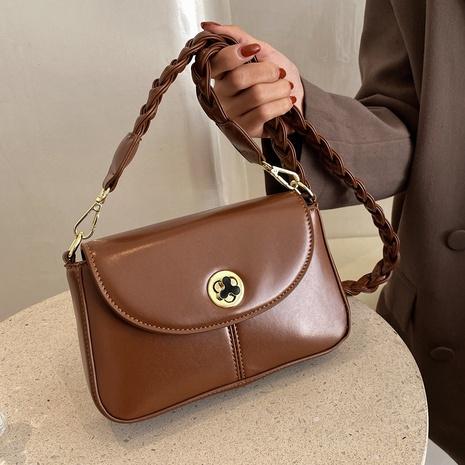 Petit sac carré de messager d'épaule de couleur unie tissé de mode en gros NHLH334152's discount tags