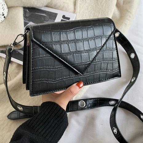 Sac à bandoulière à motif de pierre de mode petit sac carré en gros NHLH334160's discount tags
