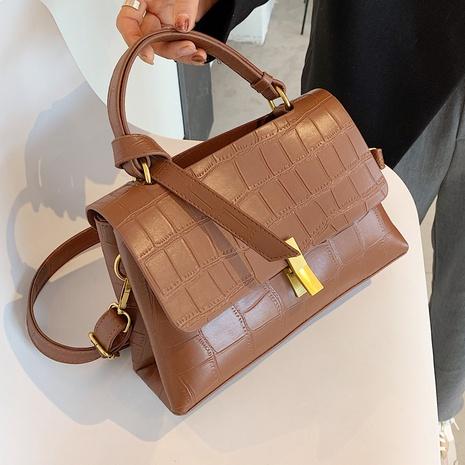 Petit sac carré portable de messager d'épaule de modèle de pierre de mode NHLH334162's discount tags