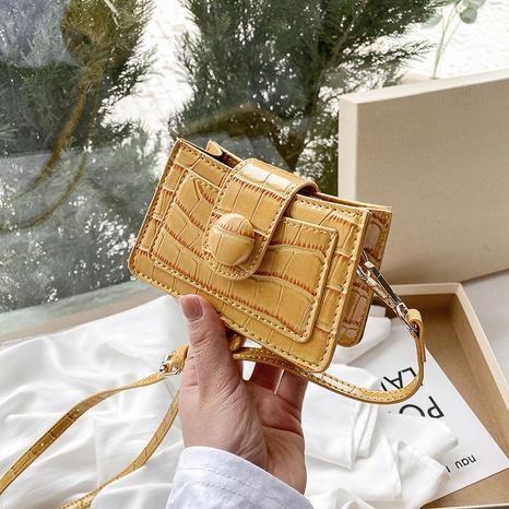 Mode bonbon couleur pierre motif épaule messager petit sac carré en gros NHLH334166's discount tags