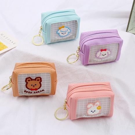 Portefeuille coréen à grille de couleur bonbon animal NHAE334190's discount tags