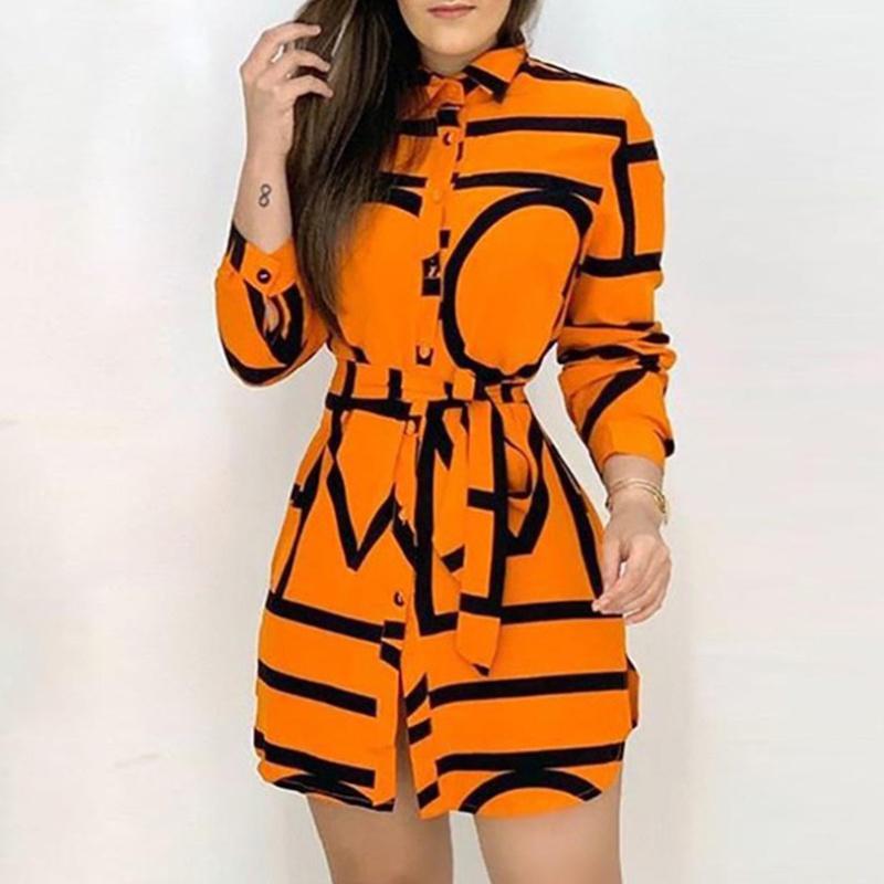 Fashion Printed Long Sleeve Lace Dress NHWA335829