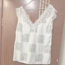 new fashion shortsleeved lace blouse NHIS334389