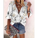 new fashion printed cardigan blouse NHIS334385