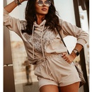 New sequin fashion shorts hooded longsleeved sweater suit NHJG335074