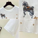 new embroidery small horse trendy Tshirt NHZN334366