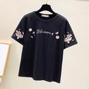 new flower embroidery round neck Tshirt NHZN334365