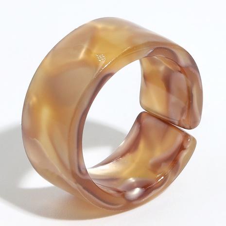 anillo de resina con círculo incompleto retro NHJQ334321's discount tags