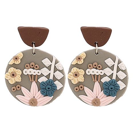Korea acrylic flower earrings wholesale NHJJ334344's discount tags