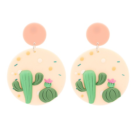 Fashion geometric round fruit earrings wholesale NHJJ334352's discount tags
